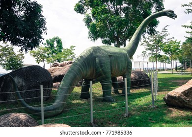 Fake Dinosaur in Park