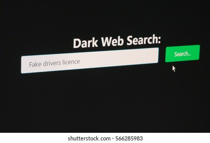 Fake Drivers Licenses wanted on the underground online black market website search for contraband and other anonymous illegal activity
