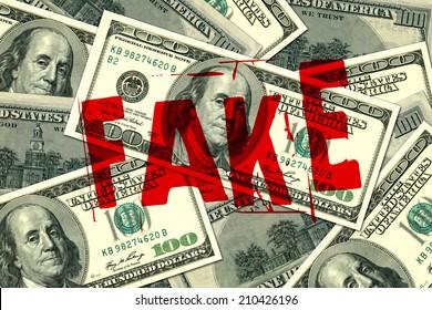 Fake hundred dollar bills background