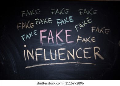 Fake influencer, misleading public profile with fake popularity