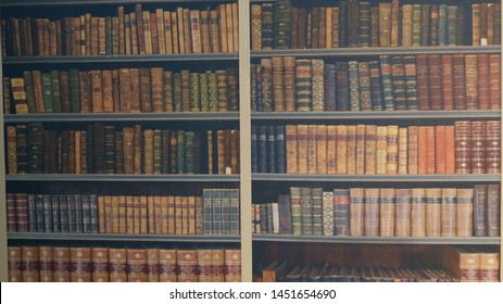 A fake library. It's actually more of a painting.