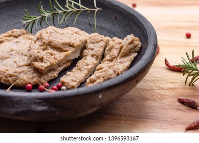 Fake meat. Meat analogue (also called  alternative, substitute, mock, faux, imitation, vegetarian, vegan) meat. Wheat gluten, also called seitan, mianjin, milgogi, gluten meat.