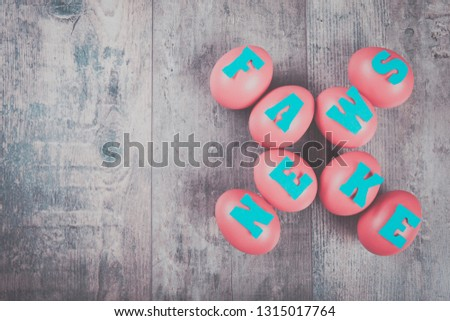 Fake news factory eggs