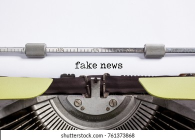 fake news - typewrite