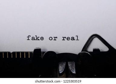 fake or real on old typewriter