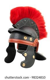 Fake Roman legionary helmet on a white background