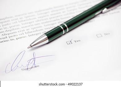 fake signature in document