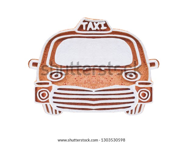 Fake Taxi On Isolated Backgrounds Stock Photo (Edit Now