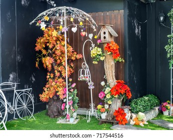 Fake tree and artificial grass of For decoration