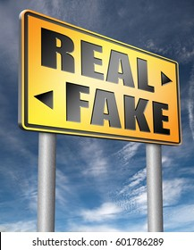 fake versus real possible or impossible reality check searching truth being skeptic skepticism  3D, illustration