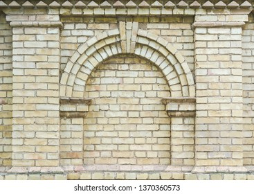 Fake window in a brick wall for backgrounds
