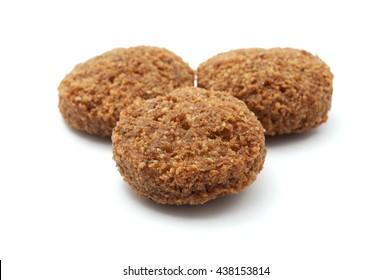 Falafel balls on a white background