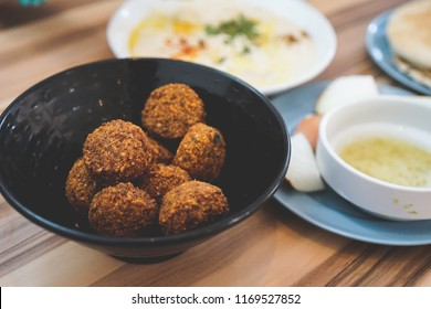 falafel and hummus at cafe in Yaffo, Tel Aviv. Israel travel photography