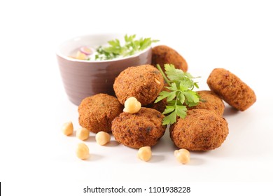 falafel on wood background