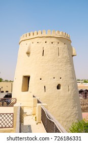 FALAJ AL MUALLA, UAE - SEP 25, 2017: The museum fort of Falaj al Mualla, Umm al Quwain, United Arab Emirates on September 25. The fort reopened 2015 after nine years of renovation and maintenance work