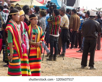 Falam Myanmar on February 20, 2017: people was dressing according to ethnic/tribal culture
