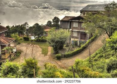 Falam town in the Western Chin State, Myanmar (Burma)