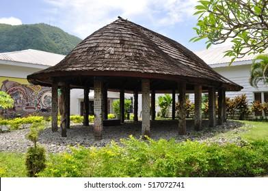 Fale'o. Traditional samoan hut. Photo taken in Pago Pago, American Samoa.