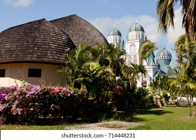 Faleo'o and immaculate Conception cathedral in Apia, Samoa