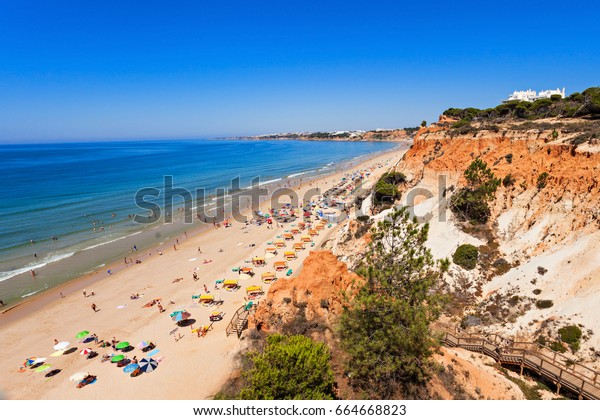 Falesia beach in Albufeira, Algarve region in Portugal