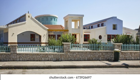 FALIRAKI. RHODES ISLAND. GREECE. 21 JUIY 2013 : Street in Faliraki. Rhodes island. Greece