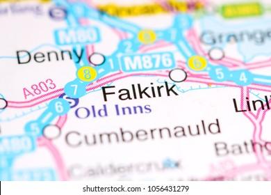 Falkirk. United Kingdom on a map