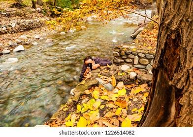 fall in Baraghan near Tehran- Iran
