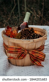 Fall basket decoration outdoor picnic