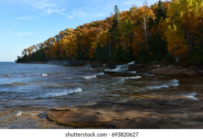 Fall color along Lake Superior in Upper Michigan.