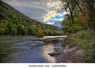 Fall Color along Potomac River at Harpers Ferry, West Virginia