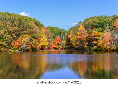 Fall color is in full force in massachusetts on a gorgeous Autumn day