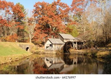 Fall Colors at Mabry Mill, Virginia