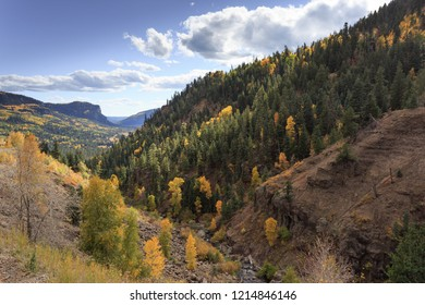 Fall colors and mountains in southwestern Colorado, wolf creek pass