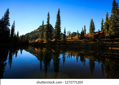 Fall Colors On Lake Tipsoo In Mt. Rainier National Park