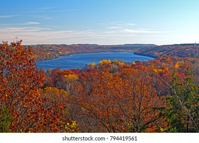 Fall Colors on the St Croix River in Afton State Park in Minnesota