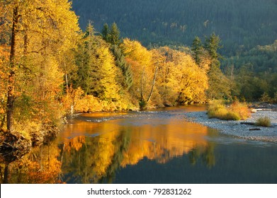 Fall Colors on the Stillaguamish River of Washington State
