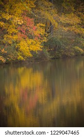 Fall colors reflecting on the lake