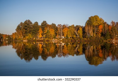 Fall colours near Gravenhurst, Muskoka Region of Ontario, Canada
