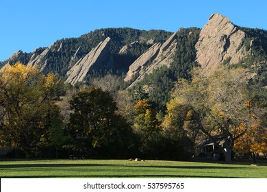 Fall at the Flatirons in Boulder, Colorado