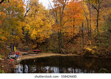 fall foliage along the Connecticut River near Brattleboro, Vermont