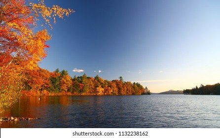 Fall Foliage by Lake Dunmore in Vermont