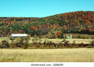 fall foliage catskill mountains new york
