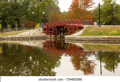 Fall foliage at Elm Park in Worcester, Massachusetts. Elm Park is an historic park in Worcester, Massachusetts