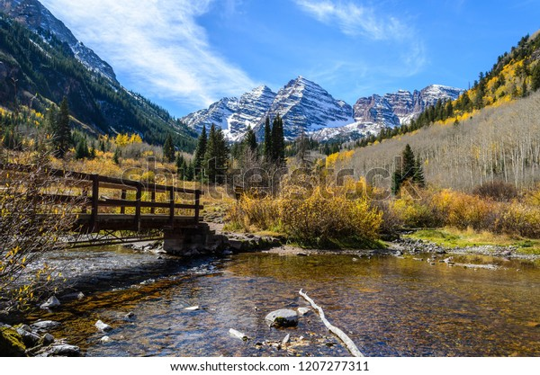 Fall Foliage Front Maroon Bells Aspen Stock Photo Edit Now