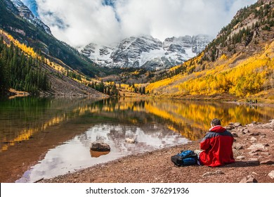 Fall foliage at Maroon Bells, Aspen, Colorado