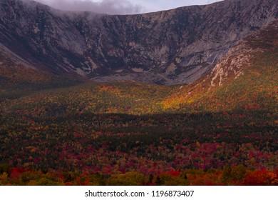 Fall foliage Mount Katahdin