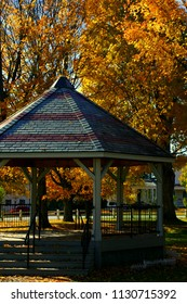Fall Foliage in the park at Fair Haven, Vermont