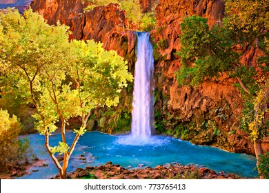 Fall at Havasu Falls