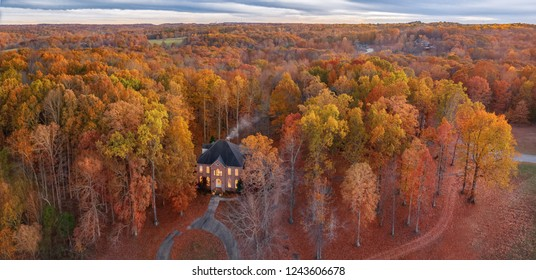 Fall home in the autumn