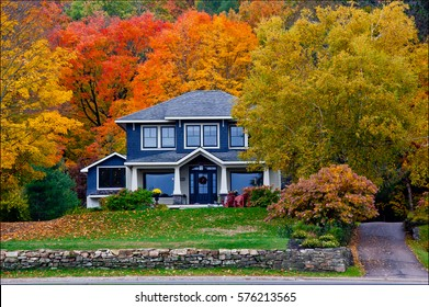 Fall House at Port Sydney, Ontario, Canada